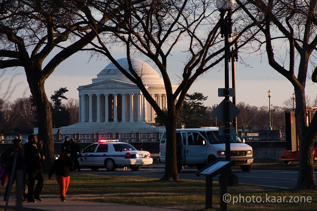 Jefferson Memorial and more police