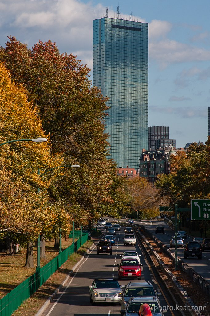 Hancock Tower and Storrow Dr